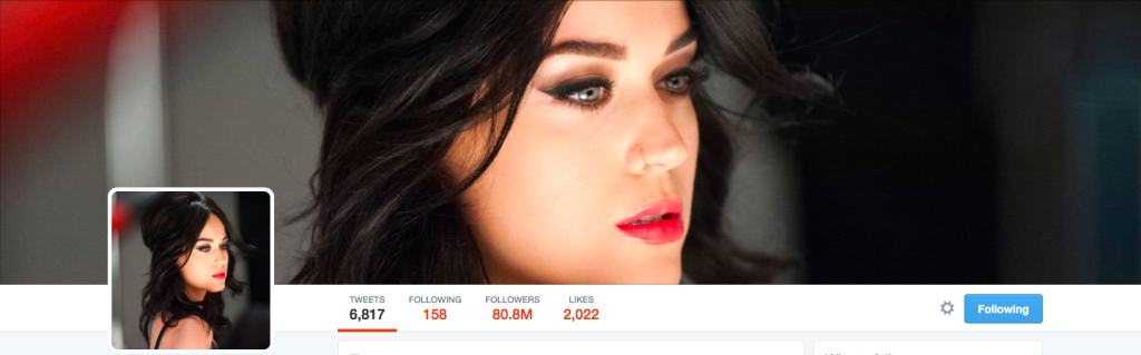 account twitter katy perry