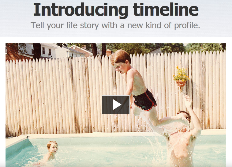 facebook introduce la timeline