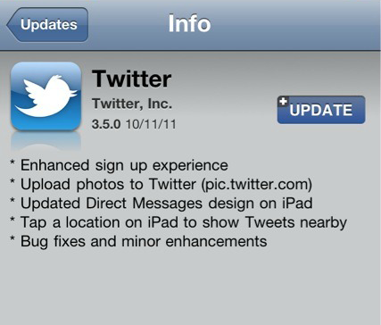 twitter integrato in iOs5