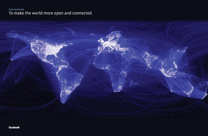 world connected on facebook