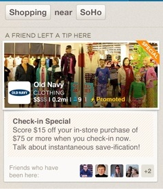 Foursquare Promoted Special