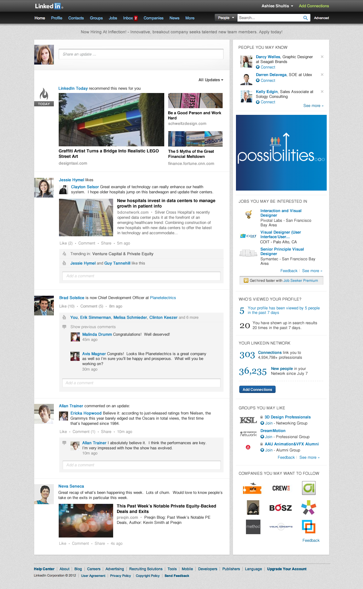 linkedin introduce un nuovo design per l 39 homepage