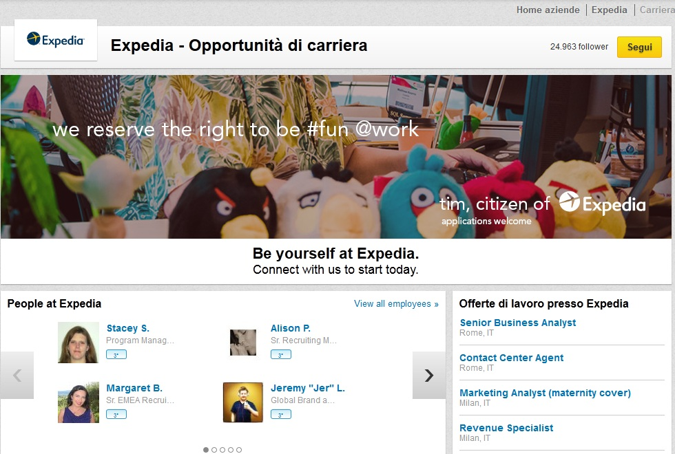 Le nuove career pages di Linkedin