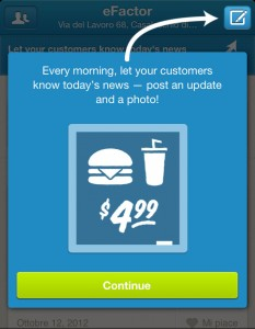 Local update tramite l'app business di Foursquare