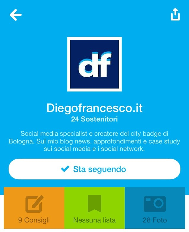 new brand page on foursquare