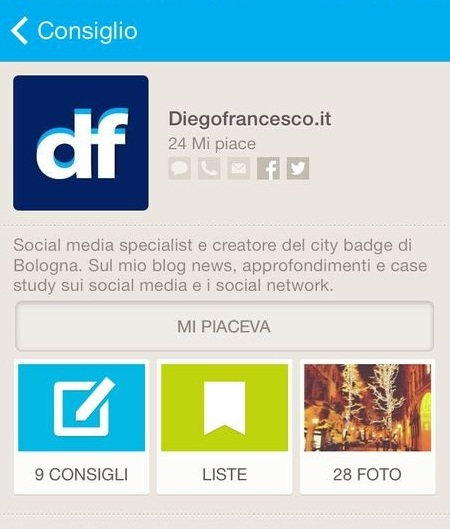 old brand page on foursquare