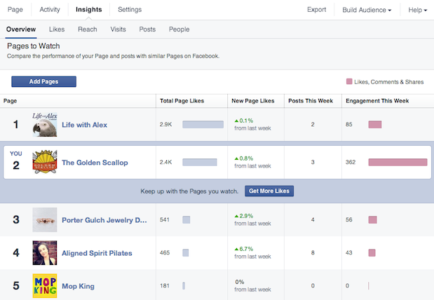facebook insights per le nuove brand page
