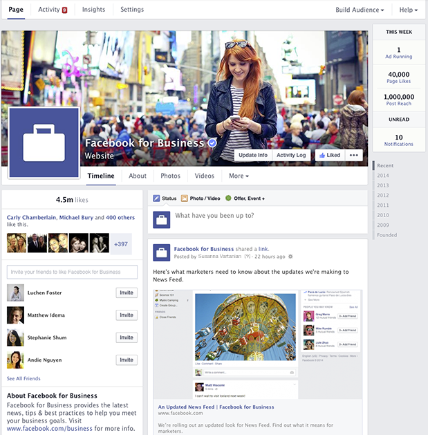 facebook nuove brand page