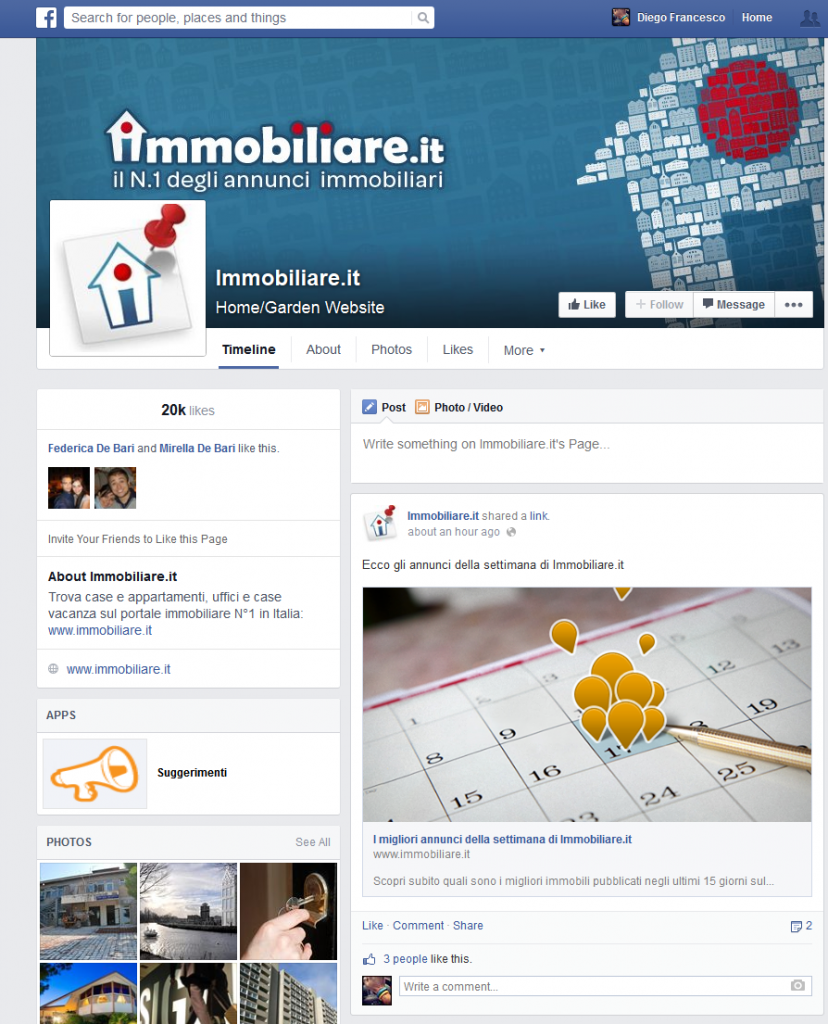 Immobiliare.it su Facebook